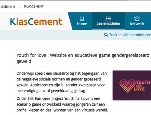 Webgame Youth For Love is opgenomen door KlasCement.
